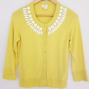KATE SPADE beaded neck cardigan